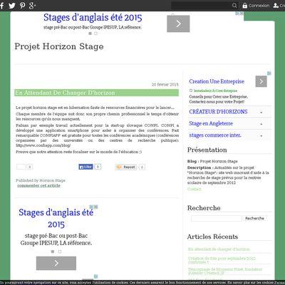 Projet Horizon Stage