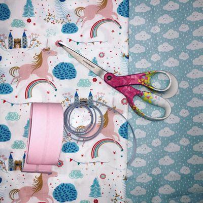 Serviette avec élastique - tutoriel couture facile
