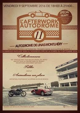 AFTERWORK TRIUMPH le Vendredi 9 septembre 2016