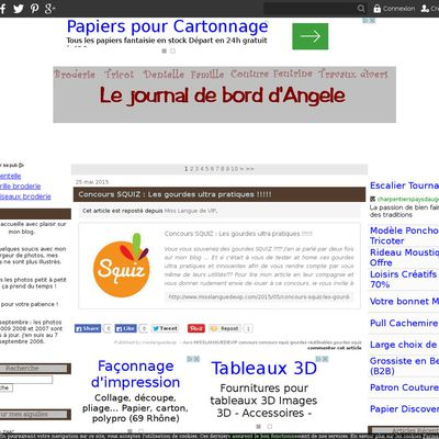 Le journal de bord d'Angèle
