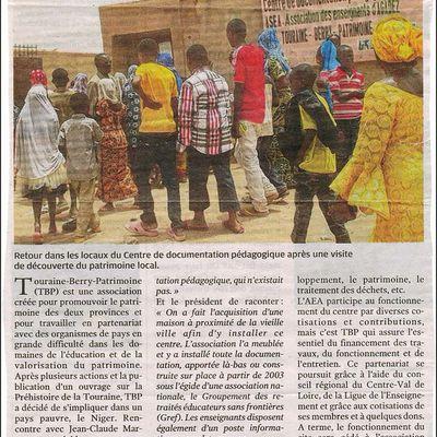 Un article dans la presse de Touraine