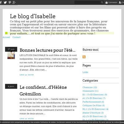Le blog d'Isabelle