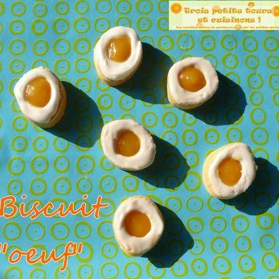 """Biscuit sandwich """"oeuf"""" pour Pâques"""