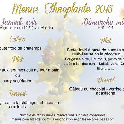 Ethnoplante : menus