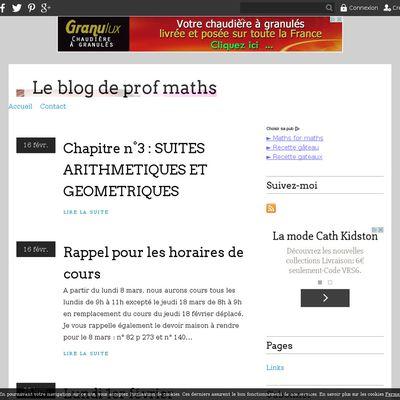 Le blog de prof maths