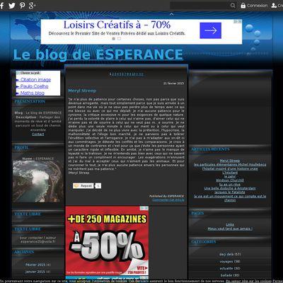 Le blog de ESPERANCE