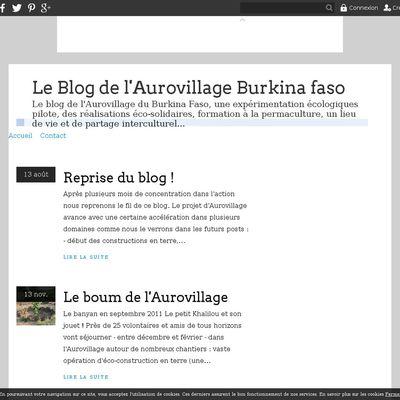 Le Blog de l'Aurovillage Burkina faso