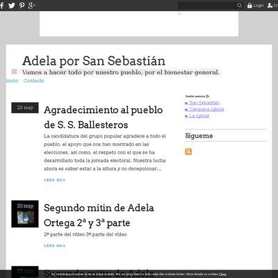 Adela por San Sebastián