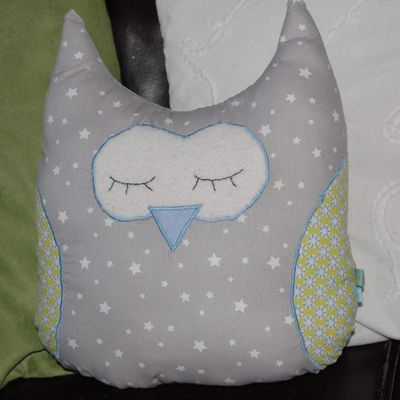 Chouette Coussin
