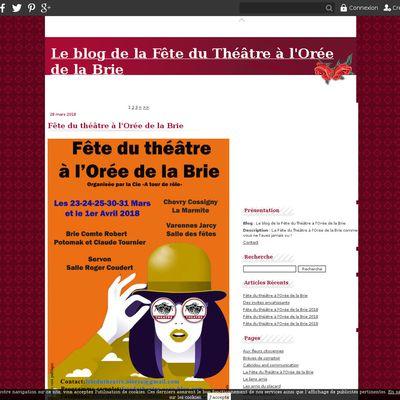 Le blog de la Fête du Théâtre à l'Orée de la Brie