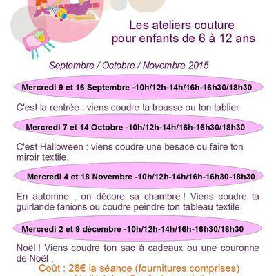 {atelier} couture enfant octobre 2015