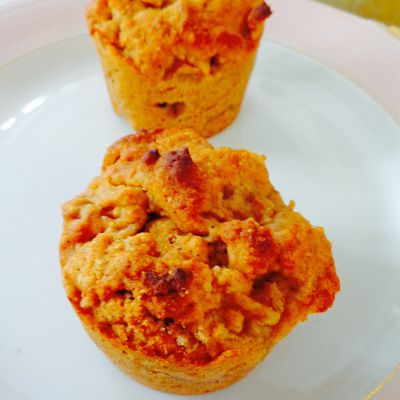 Muffins pomme-cannelle au sirop d'agave