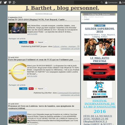 J. Barthet , blog personnel.
