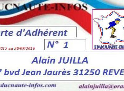 Adhérez à l'Association EDUCNAUTE-INFOS