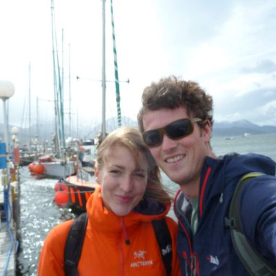 One couple, two heavy rucksacks and three big continents