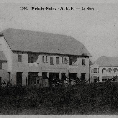 Pointe-Noire colonial : gare de marchandises