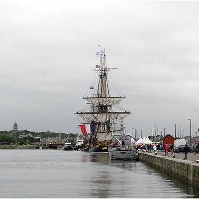 Visite de l'Hermione au port de Saint Malo