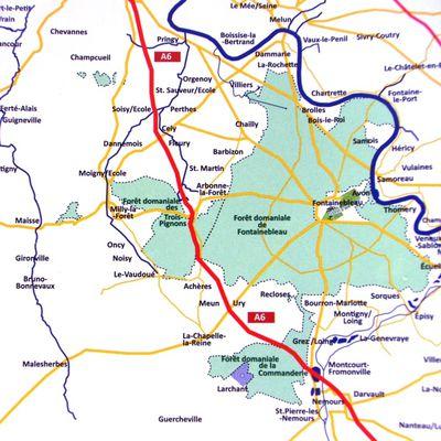 Fontainebleau, son château et son massif forestier