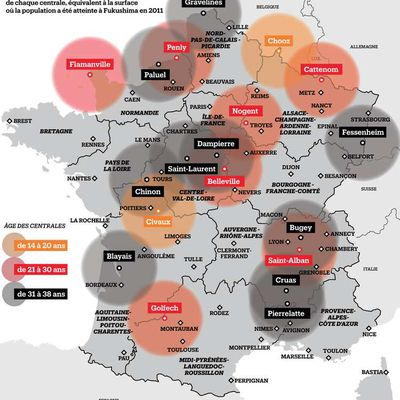 NUCLEAIRE : ZONES A RISQUES