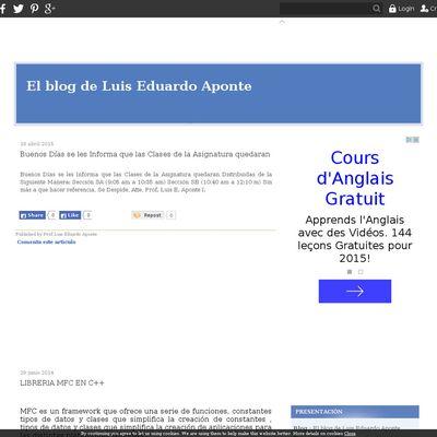 El blog de Luis Eduardo Aponte