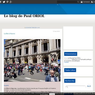 Le blog de Paul ORIOL