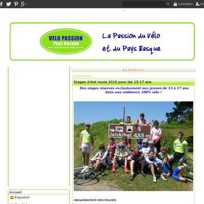 Stage Velo Passion Pays Basque : stage cyclisme route, stages vtt, rando vtt, randonnee velo