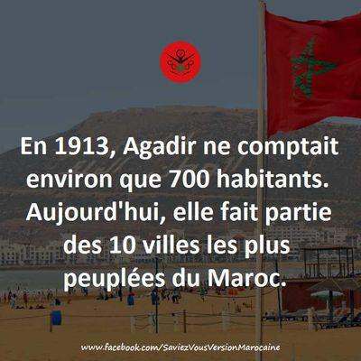 700 habitants à Agadir en 1913.