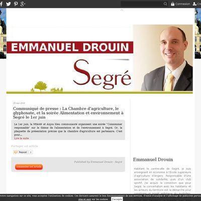 Emmanuel Drouin - Segré en Anjou Bleu