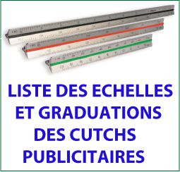 Collection de Cutch ou Kutch publicitaires en plastique ou aluminium