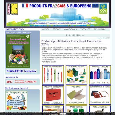 Produits Français et européeens pour la publicité, le bureau et le scolaire