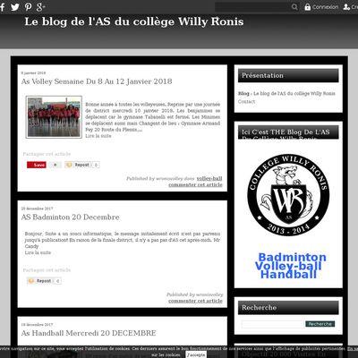 Le blog de l'AS du collège Willy Ronis