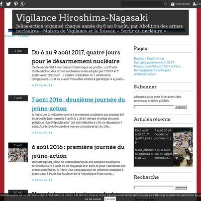 Vigilance Hiroshima-Nagasaki