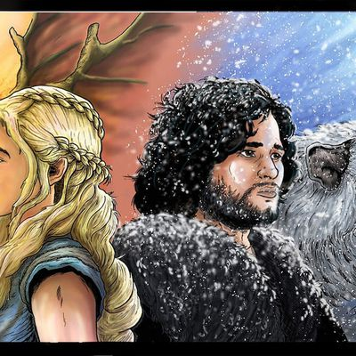 Game of Thrones Le batard et la reine des dragons version 2