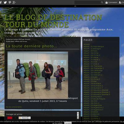Le blog de destination tour du monde