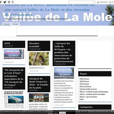 VALLÉE DE LA MOLE Association de Défense du site naturel Vallée de La Mole et des riverains de l'aérodrome
