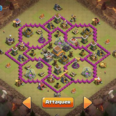 Clash of Clans : le village fleur
