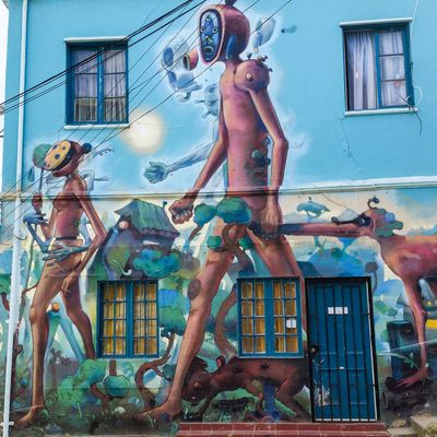 Valparaiso (Chili) - Peinture murales