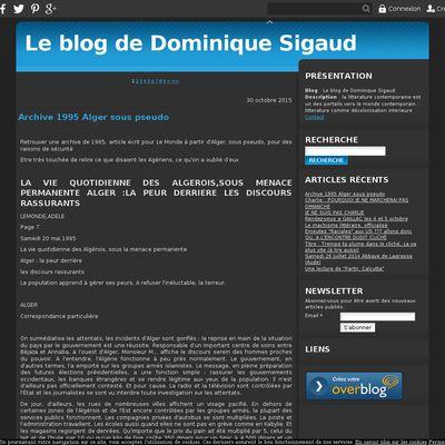 Le blog de Dominique Sigaud