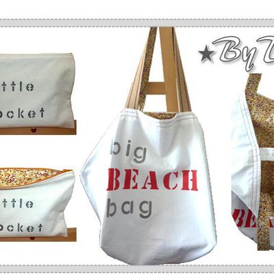Un Big Beach Bag et 2 ToteBags ...
