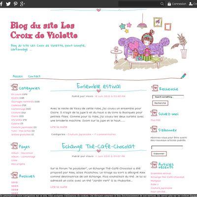 Blog du site Les Croix de Violette