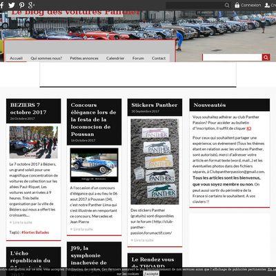 Le blog des voitures Panther