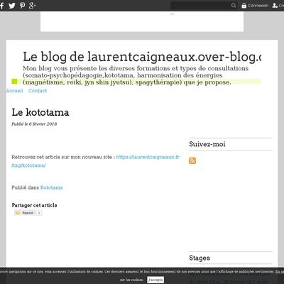 Le blog de laurentcaigneaux.over-blog.com