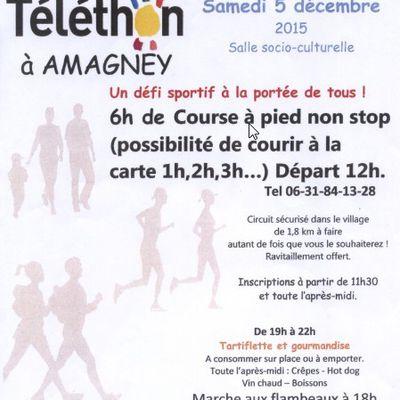 Téléthon à Amagney ce samedi  5 décembre