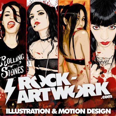 ROCK ARTWORK - The Art  Of Thomas B. - Design For Bands, Label & More...