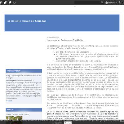 Sociologie des civilisations rurales au Sénégal
