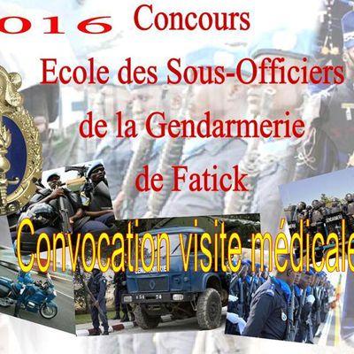 Résultat épreuves écrites du concours  des élèves gendarme