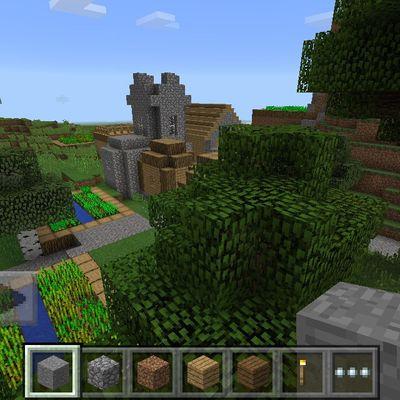 MC pocket editon 0.10.4: un seed avec un village