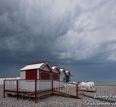 Cayeux sur mer: orage sur la plage (Baie de Somme)