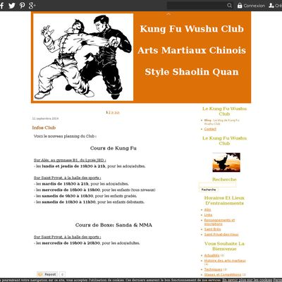 Le blog de Kung Fu Wushu Club