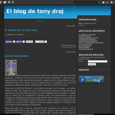 El blog de tony draj